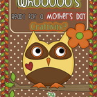 Whooo&#039;s Ready for A Mother&#039;s Day Craftivity Gift?