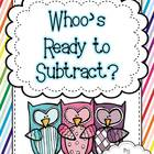 """Whoo's"" Ready To Subtract? - 10 Math Centers"