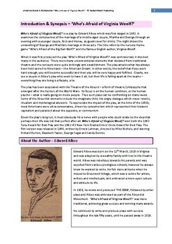 Who's Afraid of Virginia Woolf? Teacher Text Guides & Worksheets