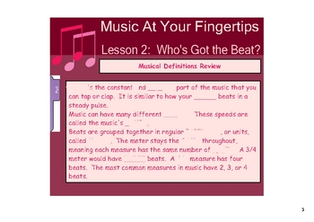 Who's Got the Beat?  Music on the SMARTboard
