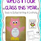 Who's In Our Class {Owl Writing & Craftivity Kit}