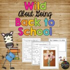 Wild About Going BACK TO SCHOOL Kinder, First & Second Mat