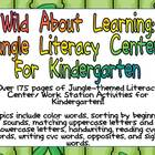 Wild About Learning Kindergarten Jungle Literacy Centers-