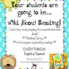 Wild About Reading - Bilingual Activity Pack  with Reading Survey