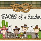 Wild West - Western Themed FACES of a Reader Posters