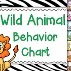 Wild Animal Behavior Chart