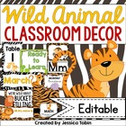Wild Animal Classroom Decor Pack (Animal Print Designs)