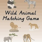 Wild Animal Matching Game Freebie