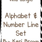 Wild Jungle Alphabet and Number Line
