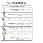 Wild Reading Helpers - Reading Strategies