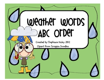 Wild Weather ABC Order