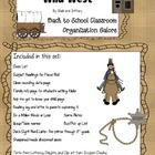 Wild West Back to School Organization Galore