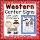 Wild West Cowboy Themed  Center Signs