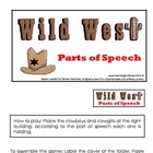 Wild West Parts of Speech