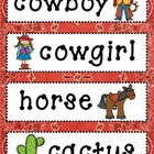 Wild West Vocabulary Cards for Word Wall