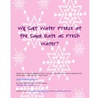 Will Salt Water Freeze?