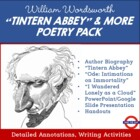 William Wordsworth Poetry Pack