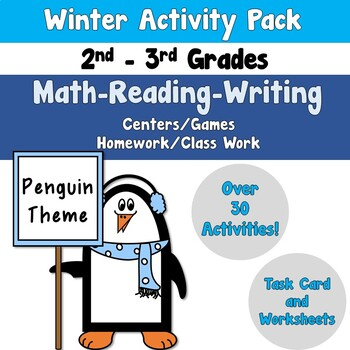 Winter Activity Pack using Reading-Writing-Math
