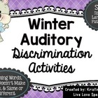 Winter Auditory Discrimination!
