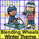 Winter Literacy Center: Blending DIBELS Build A Word Wheel