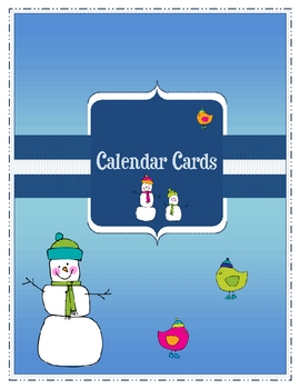 Winter Calendar Question Cards