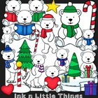 Winter Clip Art ~ Polar Bears {Ink n Little Things Clip Art}