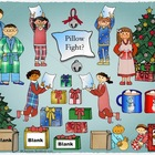 Winter Clipart: Kids in Pajamas for Christmas available fo