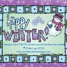 Winter Common Core Math Centers