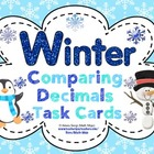 Winter Comparing Decimals Task Cards