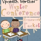 Winter Conference/RTI Homework Packet: Kindergarten SPANIS