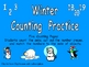 Winter Counting Sets 0-20 Independent Practice for Kindergarten