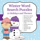 Winter Days 10 Themed Word Search Puzzles