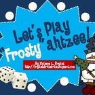 "Winter Dice Game (Let's Play ""Frosty""ahtzee!)"