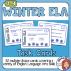 Winter ELA Task Cards: 32 Multiple Choice Sentence Cards