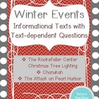 Winter Events:  3 Informational Texts with Questions (Chan