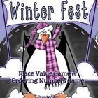 Winter Fest - Penguin Place Value & Ordering Numbers Math Center
