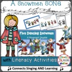 Winter! Five Dancing Snowmen - Shared Reading Singable {CCSS}