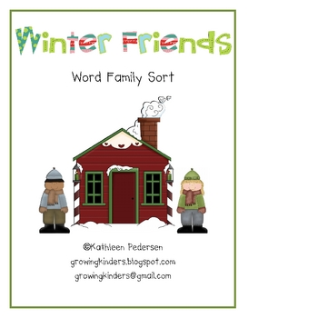 Winter Friends Word Family Sort