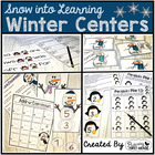 Math and Literacy Centers for Winter - Frosty in First Grade