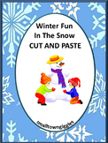 Winter Fun In The Snow Cut and Paste Worksheet set