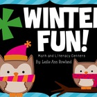 Winter Fun! Math and Literacy Centers
