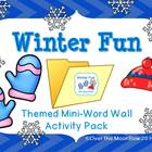 Winter Fun Mini-Word Wall Activity Pack