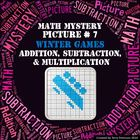 Winter Games Math Mystery Picture #7  ~ Addition, Subtract