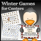 Winter Games for Centers: 4 Math, 3 Literacy, Memory Match