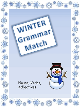 Winter Grammar Match