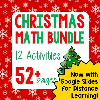 Winter Holiday Math Christmas Bundle - 6 Activities
