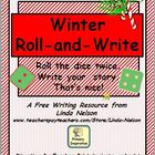 Winter Holiday Roll and Write