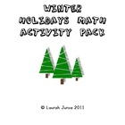 Winter Holidays Math Activity Pack Grades 2-4