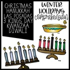 Winter Holidays Common Core booklet Christmas Kwanzaa Hanu