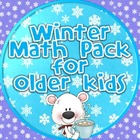 Winter / January Math Pack for Older Kids